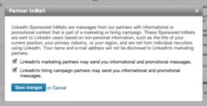 Linkedin Sponsored InMail 2014